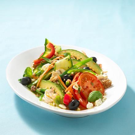Bunter Weltklasse-Salat mit Kresse Rezept