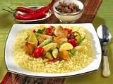 Buntes Couscous mit Hähnchen-Gemüse- Ragout Rezept