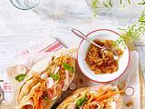 Buntes Gemüse-Baguette mit Hähnchen Rezept