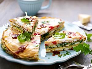 Buntes Schicht-Omelett Rezept