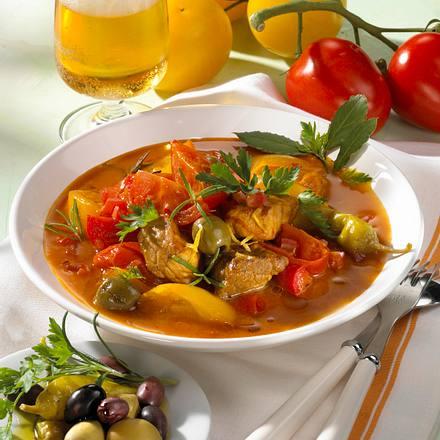 Buntes Tomaten-Gulasch Rezept
