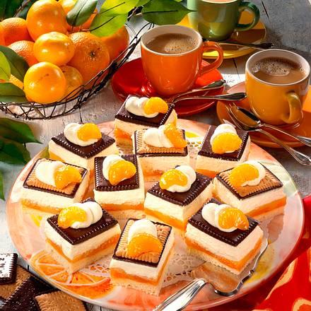 Butter-Schokokeks-Kuchen mit Mandarinen Rezept
