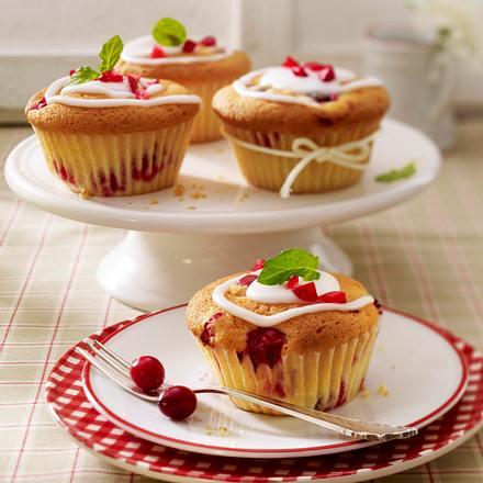 Buttermilch-Muffins mit Cranberrys Rezept