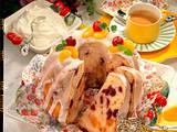 Buttermilch-Napfkuchen mit Kirschen und Mandarinen Rezept