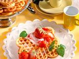 Buttermilch-Waffeln mit Erdbeeren (Diabetiker) Rezept