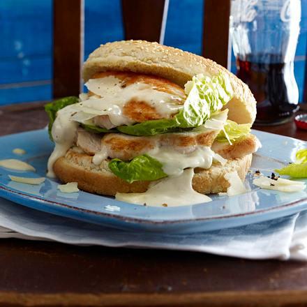 Caeasar Salad-Burger Rezept