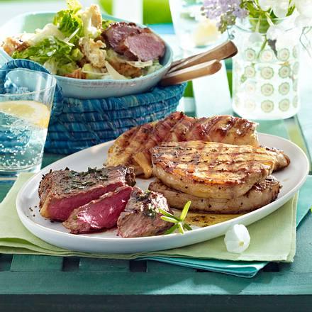 caesar s salad mit gegrillter entenbrust rezept chefkoch rezepte auf kochen. Black Bedroom Furniture Sets. Home Design Ideas