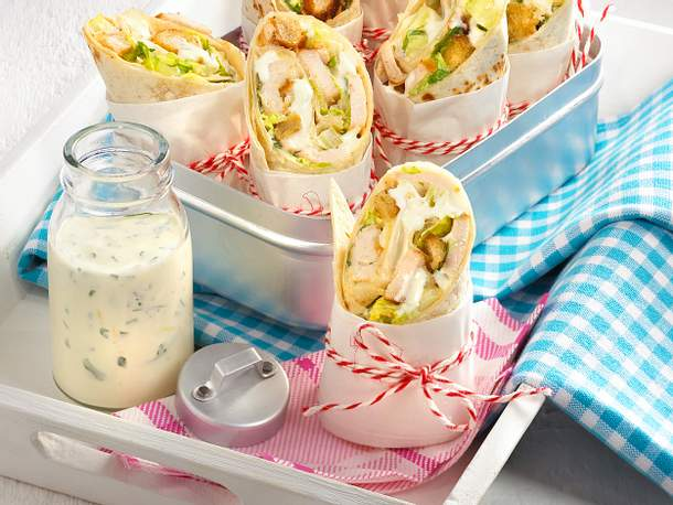 Caesar-Salad-Wraps Rezept