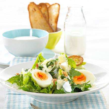 caesar salad mit joghurt knoblauch dressing rezept chefkoch rezepte auf kochen. Black Bedroom Furniture Sets. Home Design Ideas
