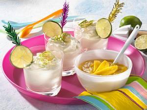 Caipirinhacreme mit Mangosoße Rezept
