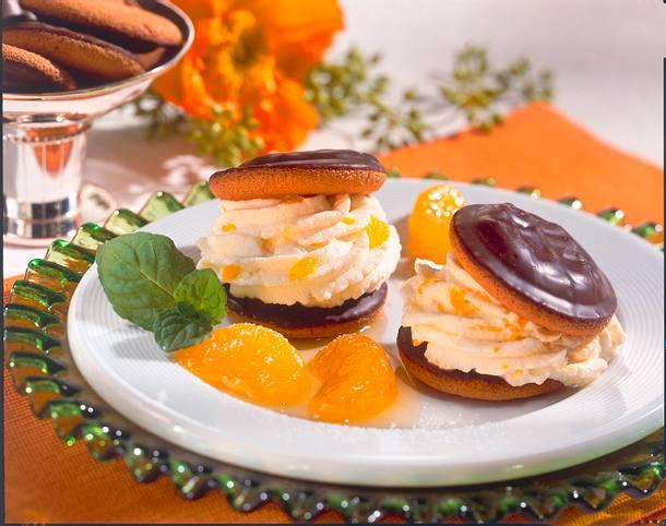 Cake-Burger mit Mandarinen-Creme Rezept