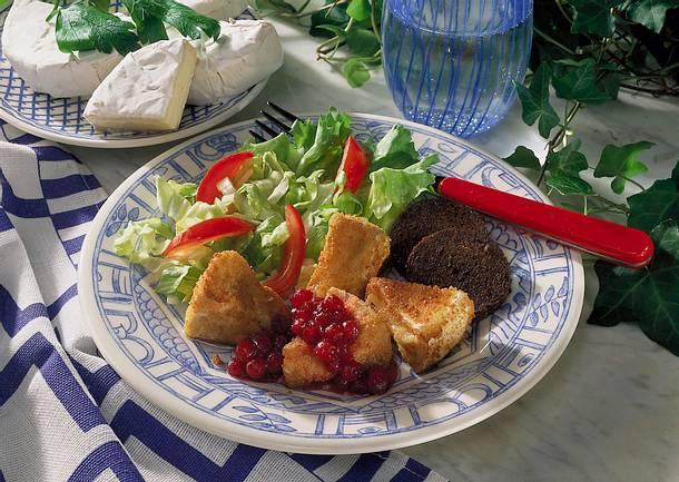 Camembert mit Preiselbeeren Rezept
