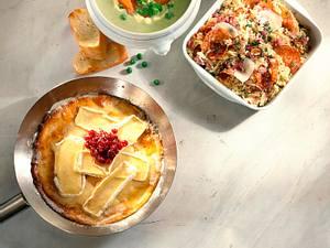 Camembert-Pfannkuchen mit Preiselbeeren Rezept