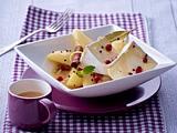 Camembertecken mit Birnen-Kompott Rezept