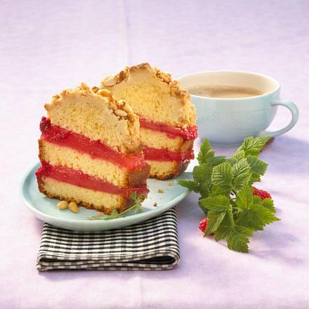 Campari-Mango-Sandkuchen mit Pinienstreusel Rezept