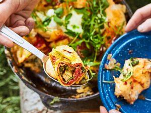 Campfire Rolls mit Salami und Mozzarella Rezept