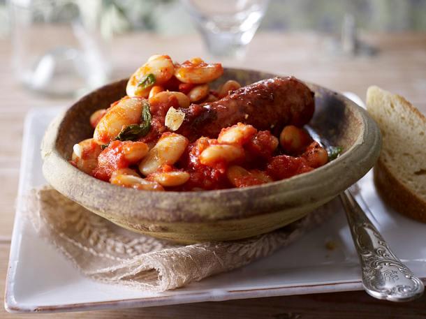 Cannellini (weiße Bohnen) mit Salsicce Rezept