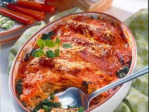 Cannelloni auf Blattspinat Rezept