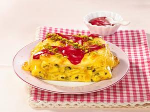 Cannelloni mit Marzipan und Himbeersoße Rezept