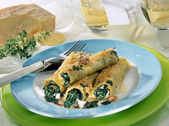 Cannelloni mit Nuss-Soße Rezept