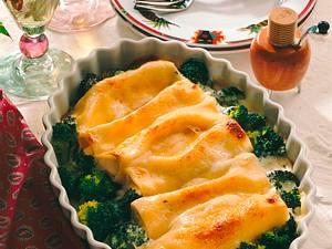 Cannelloni mit Quarkfüllung und Broccoli Rezept