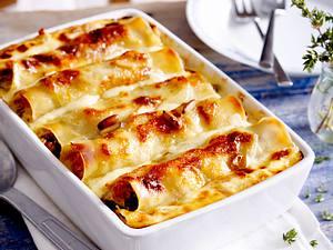 Cannelloni mit Sommergemüse und Pinienkernen Rezept