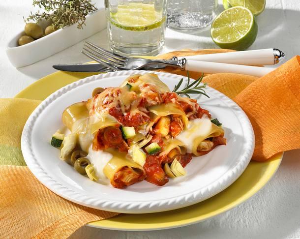 Cannelloni mit Zucchini-Tomaten-Füllung Rezept