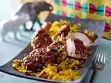 Cape Chicken Braai mit Geelrys (Gewürzreis) Rezept