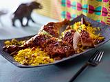 Cape Chicken Braai mit Gellrys (Gewürzreis) Rezept