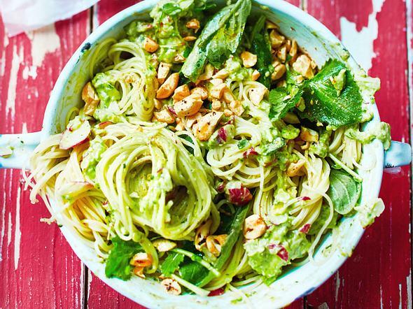 Capellini mit Avocadopesto Rezept
