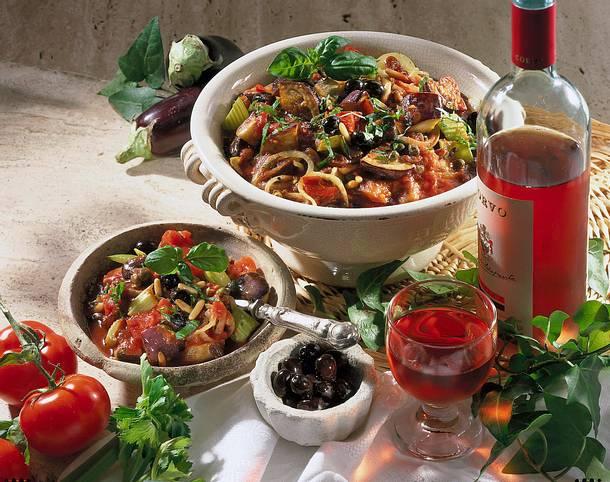 Caponata-Sizilianischer bunter Gemüsetopf Rezept