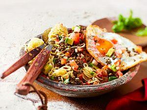 """Capellini mit Tomaten-Salsa """"Zwei eireiche Halunken"""""""