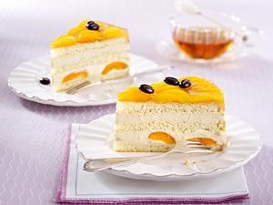 Cappuccino-Joghurt-Torte mit Aprikosen Rezept
