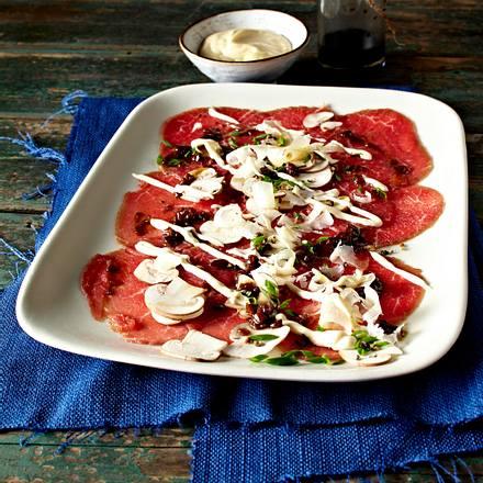 Carpaccio mit Pilzen Rezept