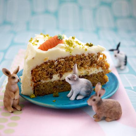 Carrot Cake Mit Pecannussen Und Frosting Mohrenkuchen Rezept Lecker