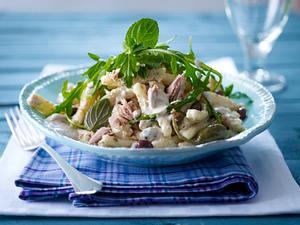 Casareccia à la Tonnato (Nudeln mit Thunfisch-Soße) Muschelnudeln Rezept