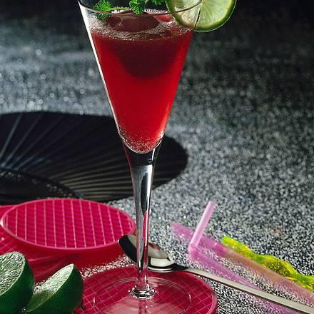 Cassis-Sorbet mit rotem Sekt Rezept
