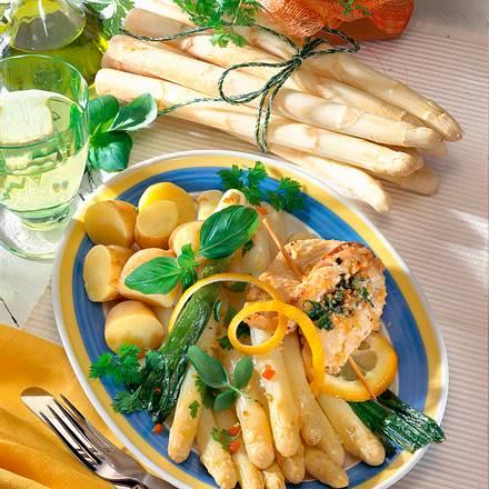 Catfish mit mariniertem Spargel Rezept