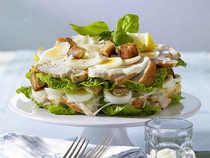 Ceasar's Salad mit Hähnchen Rezept
