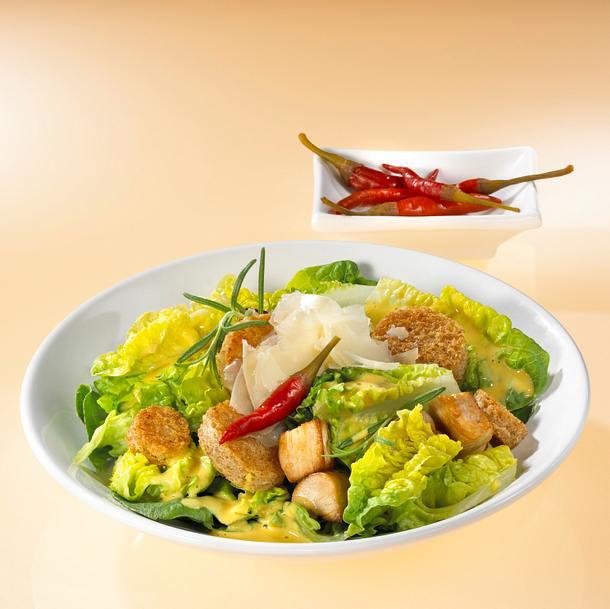 Ceasar-Salat mit Putenbrust Rezept