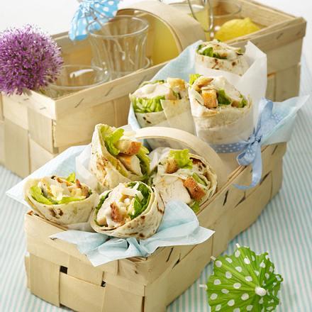Ceasars Salad-Wrap Rezept