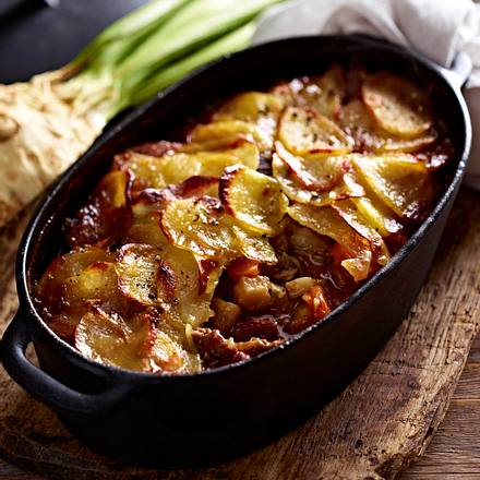 Celeriac and lamb hotpot Rezept