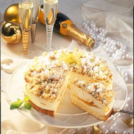 Champagner-Flocken-Torte Rezept