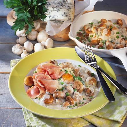Champignon-Gorgonzola-Pfanne Rezept