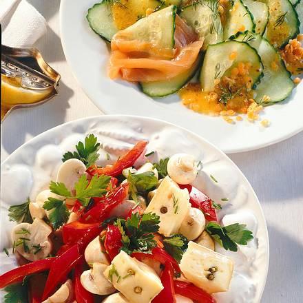 Champignon-Käse-Salat Rezept