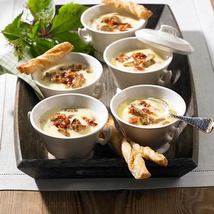 Champignon-Käsecreme-Suppe Rezept