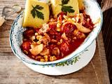 Champignon-Paprika-Chili mit Polentaschnitten Rezept
