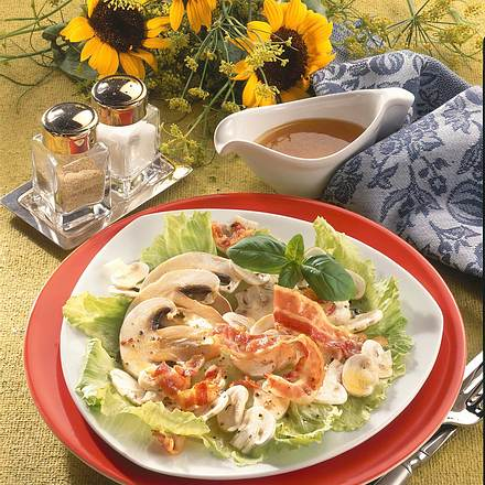 Champignon-Salat mit Speck Rezept