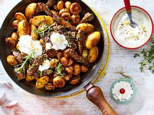 Champignon-Steak-Pfanne Rezept