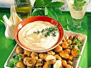 Champignonpfanne mit Aioli Rezept